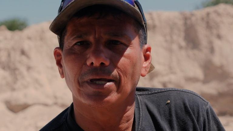 Israel Ticas has found more than 20 bodies so far