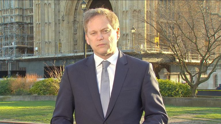 Transport secretary Grant Shapps said the UK was following scientific advice in handling the COVID-19 response
