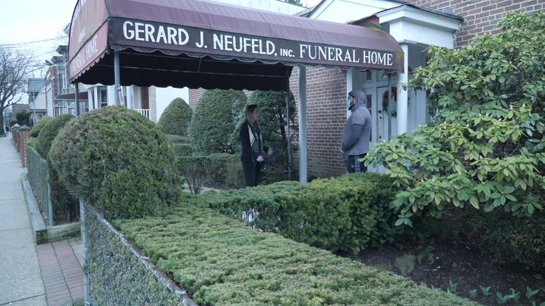 Funeral directors are trying their hardest to offer dignity to the dead in New York City