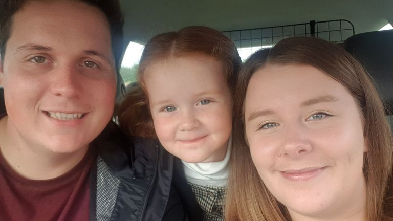 Lauren Wildschut is facing up to being away from her family when she gives birth
