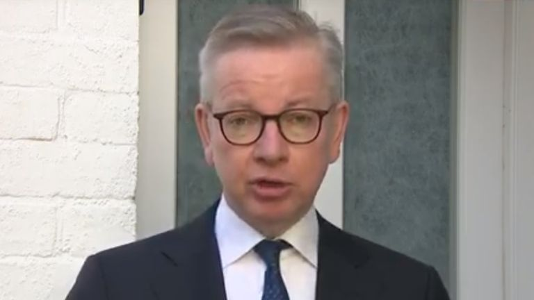 Michael Gove speaking to Sophy Ridge