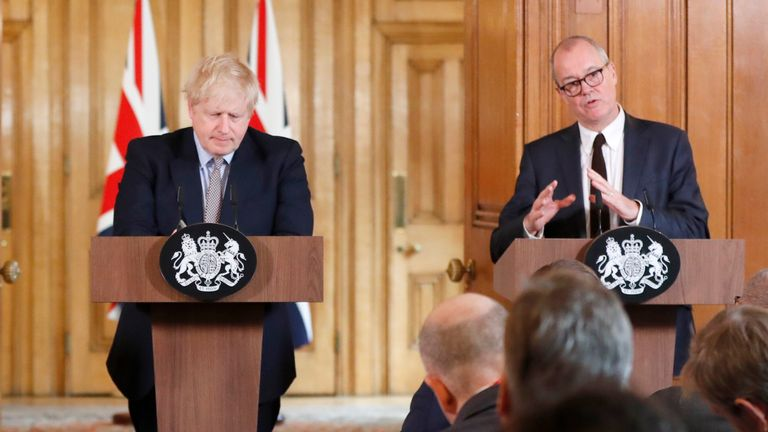 Boris Johnson and Sir Patrick Vallance laid out the UK's planned response