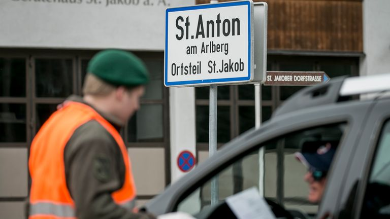 St Anton in Austria was placed in quarantine after a cluster of cases were linked to it
