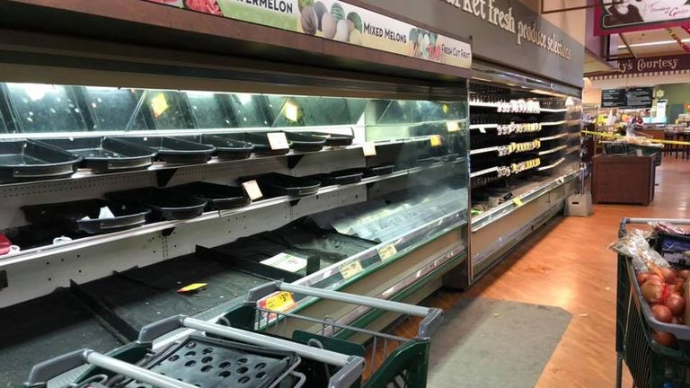 Fresh food worth an estimated $35,000 had to be thrown away. Pics: Gerrity's Supermarket
