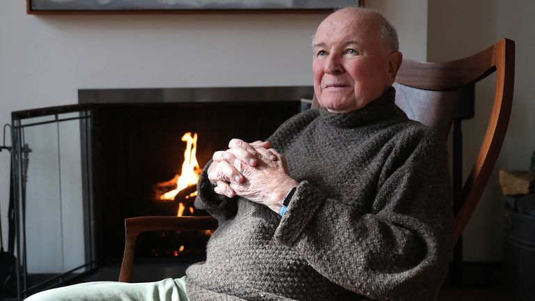 NEW YORK, NEW YORK--MARCH 02: Playwright Terrence McNally appears in a portrait taken in his home on March 2, 2020 in New York City. (Photo by Al Pereira/Getty Images)