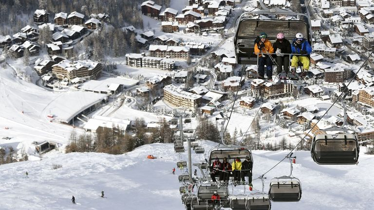 The popular ski resort of Val d'Isere was among hundreds of French ski resorts to have to close with little notice