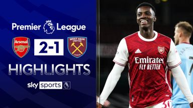 Nketiah strikes late to beat Hammers