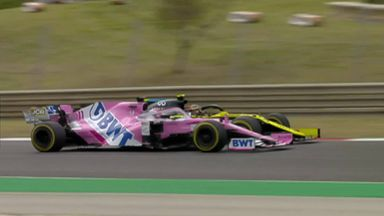 Perez ahead of Ocon after great battle