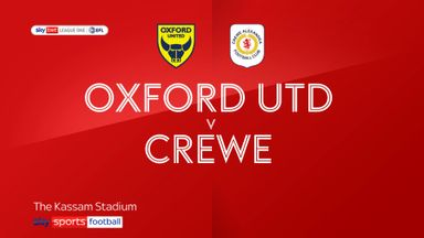 Oxford Utd 0-2 Crewe