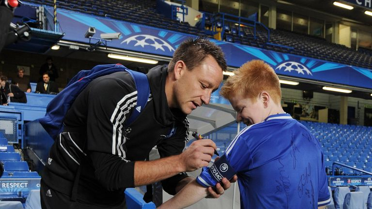 Football-mad Oran Tully met his idol John Terry and the rest of the Chelsea squad during a festive edition of My Special Day.