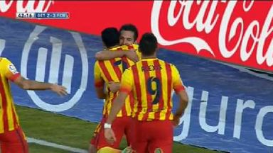 Pedro's eight-minute hat-trick!