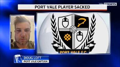 Port Vale player sacked