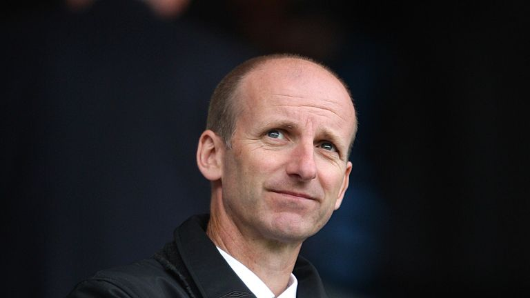 Referee Mike Riley in the stands prior to kick-off, Blackburn v Chelsea, October 2010