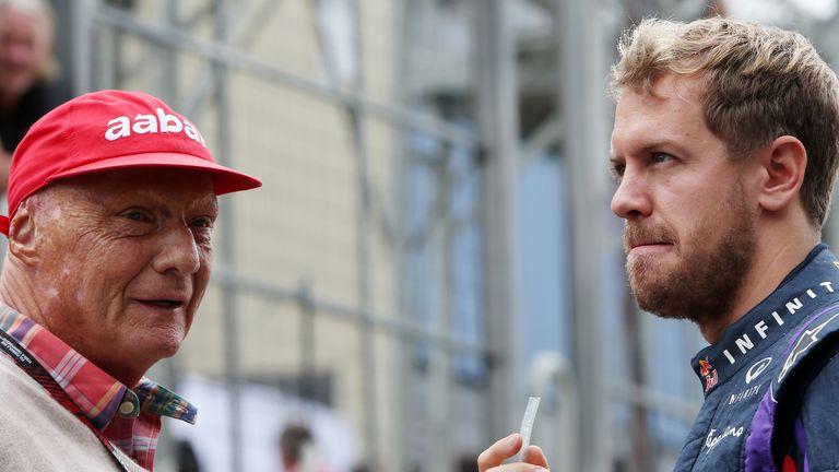 Niki Lauda and Sebastian Vettel
