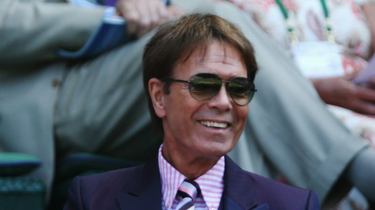 Cliff Richard is no stranger to the Wimbledon stands