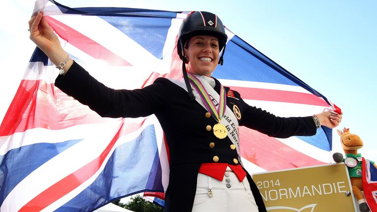 Charlotte Dujardin has been named Sunday Times & Sky Sports Sportswoman of the Year