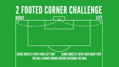 Two footed corner challenge - Port Vale