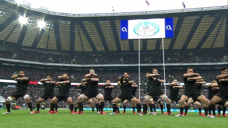 england v new zealand the haka video watch tv show. Black Bedroom Furniture Sets. Home Design Ideas