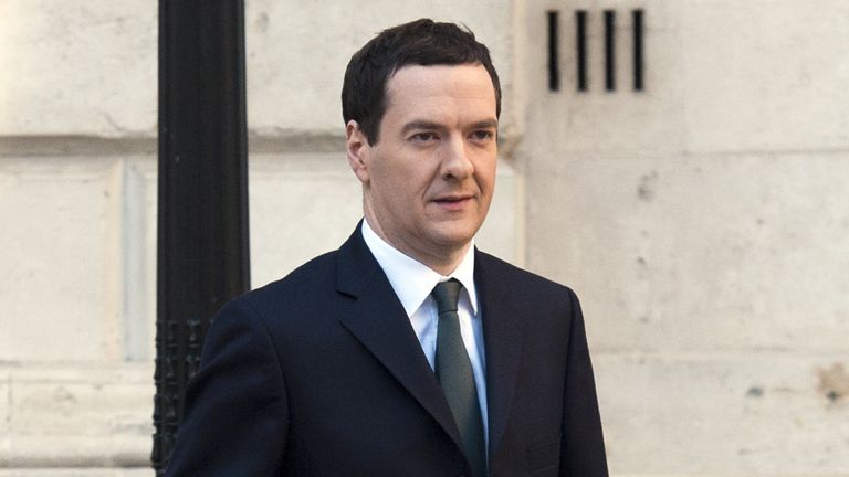 LONDON, ENGLAND - DECEMBER 03: Chancellor George Osborne leaves The Treasury for Parliament on December 3, 2014 in London, England.