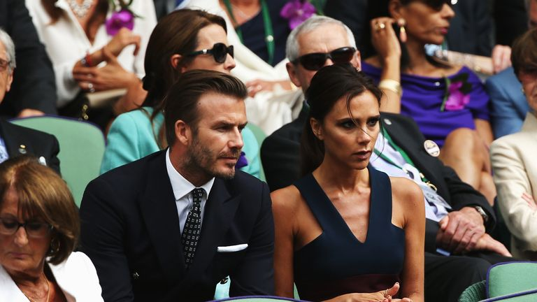 The Beckhams watched Murray win Wimbledon