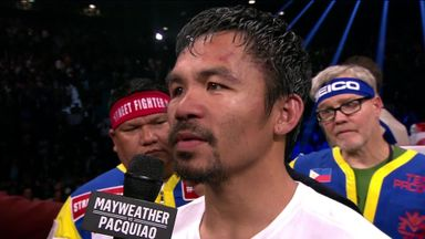 Pacquiao: I thought I won