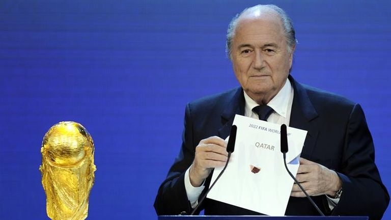 Sepp Blatter reveals the hosts of the 2022 World Cup