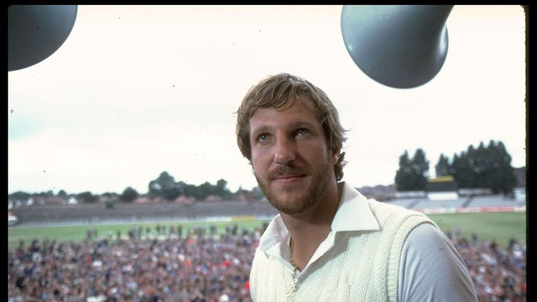 Botham takes in the Headingley atmosphere after steering England to a famous victory in 1981