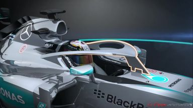 Mercedes experiment with closed cockpit