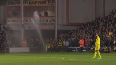 Walsall v Chelsea interrupted by sprinkler