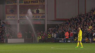 Walsall v Chelsea interrupted by sprinkler