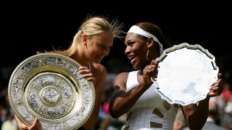 A teenage Maria Sharapova stunned the tennis world by defeating reigning Wimbledon champion Serena Williams