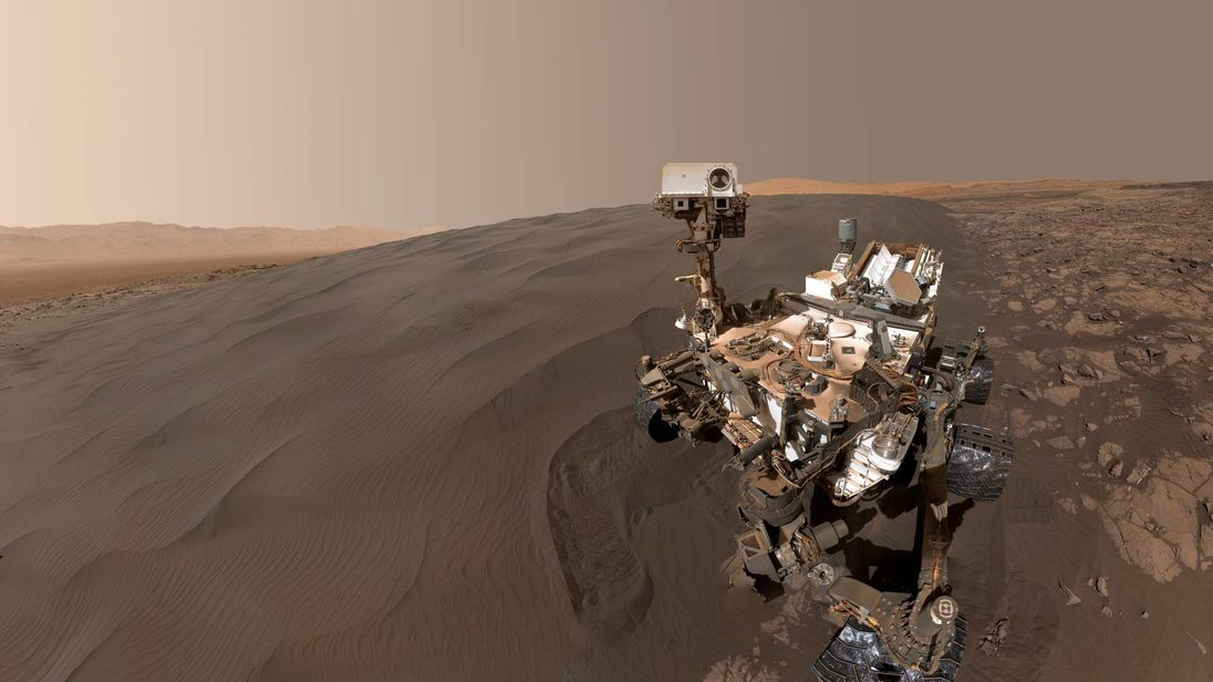 Self-portrait from Curiosity Mars rover