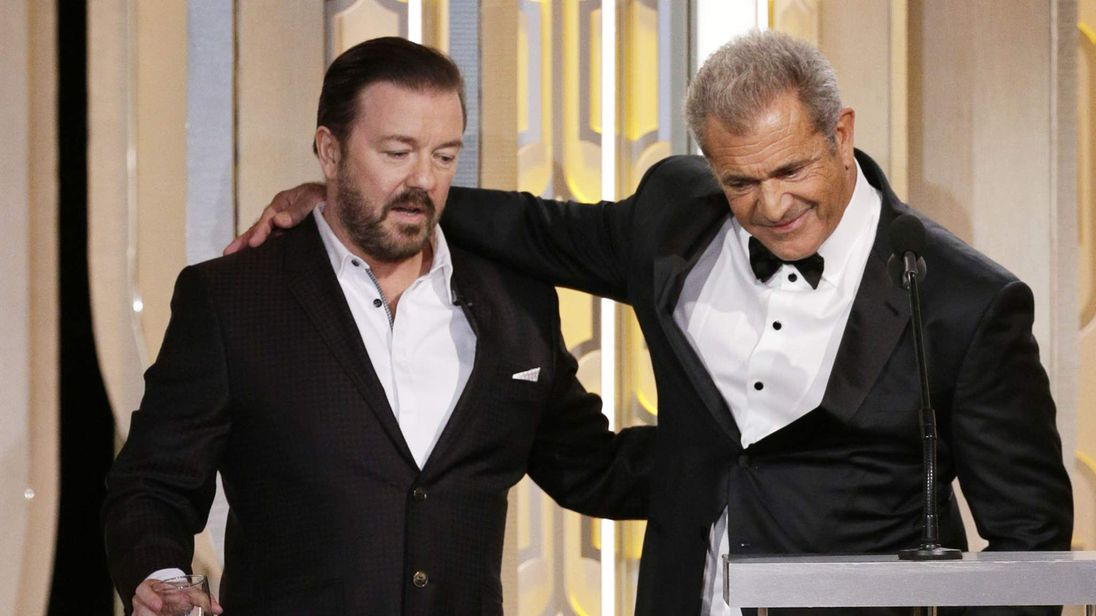 Ricky Gervais and Mel Gibson