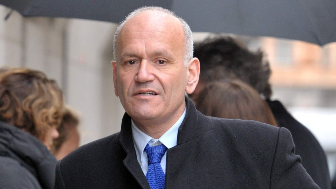 Former Dragons' Den star Doug Richard arriving at the Old Bailey in London.