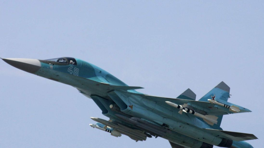 Sukhoi Su-34 jet fighter performs during the international air show MAKS-2007 in Zhukovsky