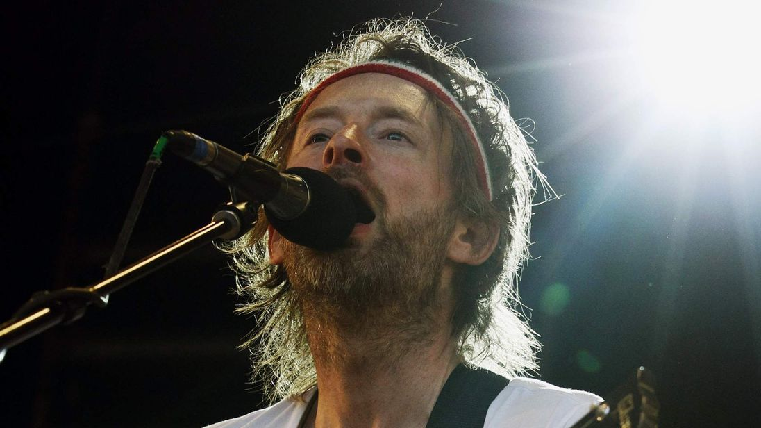 Thom Yorke of Radiohead performs at the Glastonbury Festival 2010 in south west England