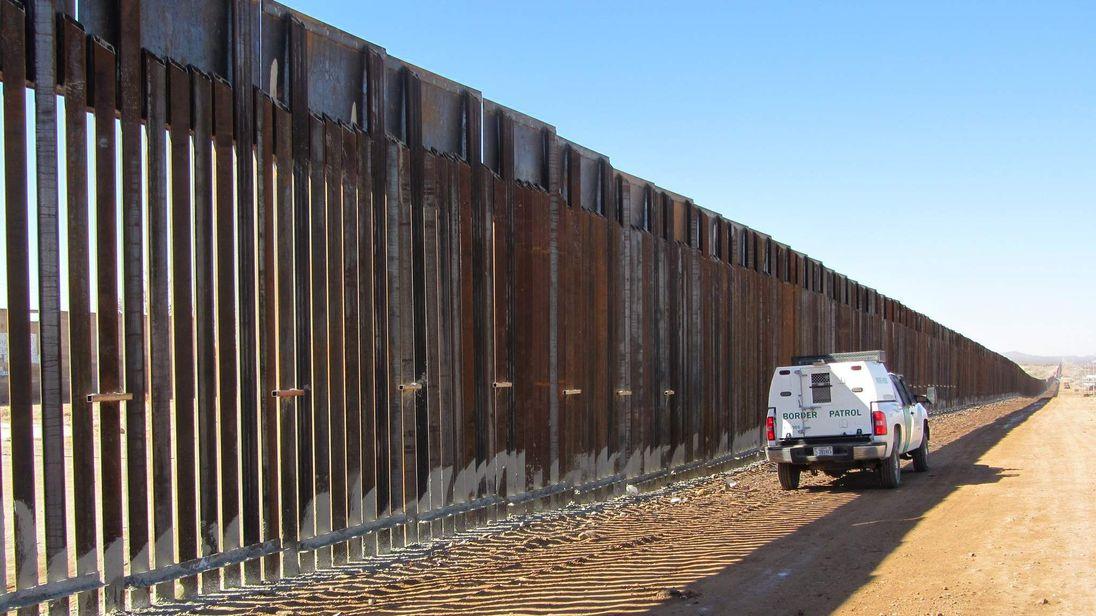 A border patrol vehicle at the Mexico border in Douglas, Arizona