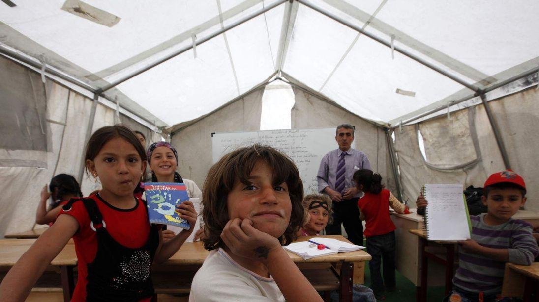 school classroom at camp