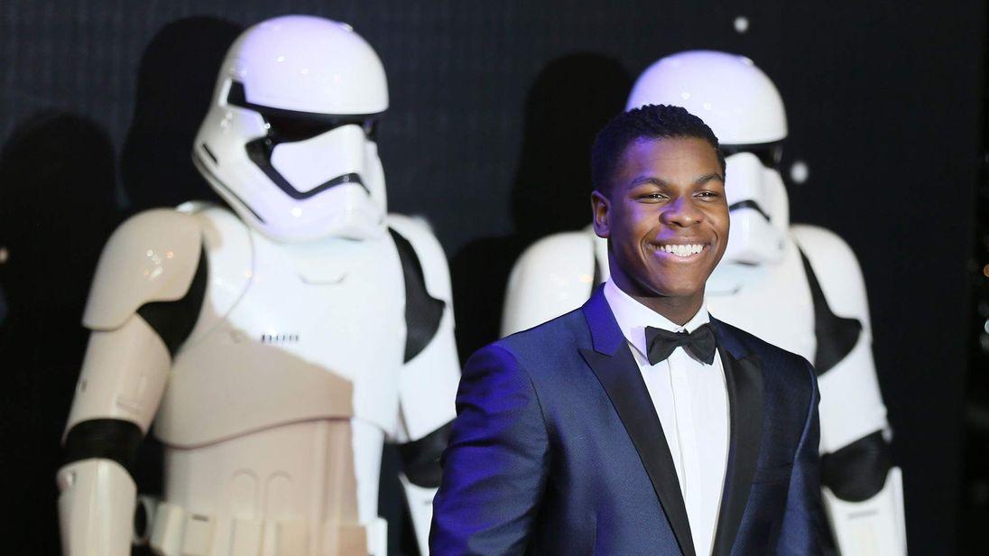 Actor John Boyega arrives at the European Premiere of Star Wars