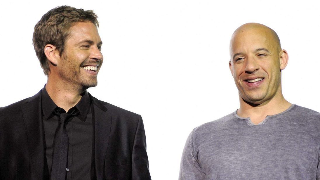 US actors Vin Diesel (R) and Paul Walker
