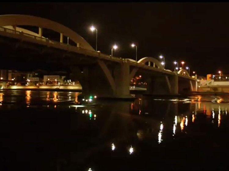 The man leapt off William Jolly Bridge