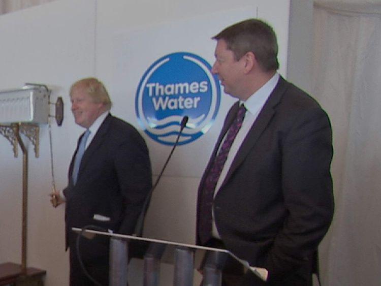 Boris Johnson opens new super sewer