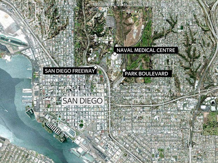 San Diego map.