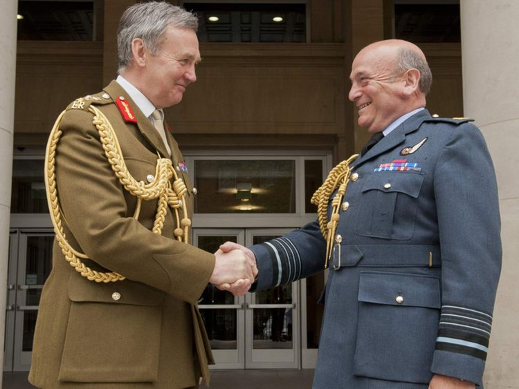 Air Chief Marshal Peach (R) takes over from General Sir Nicholas Houghton