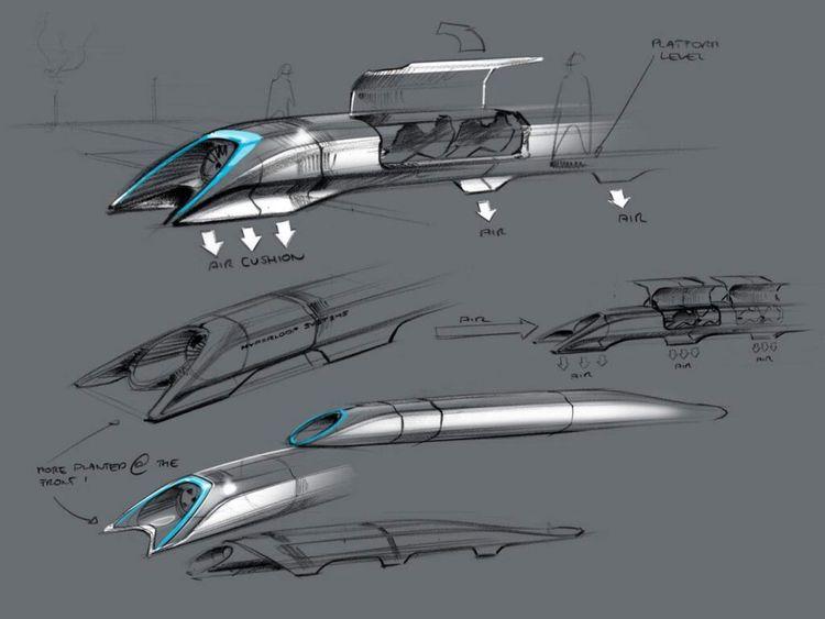 Basic blueprint for a supersonic 'Hyperloop' transport system