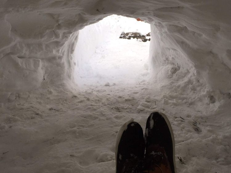 The inside of the igloo built by Patrick Horton and his friends. Pic: Patrick Horton.