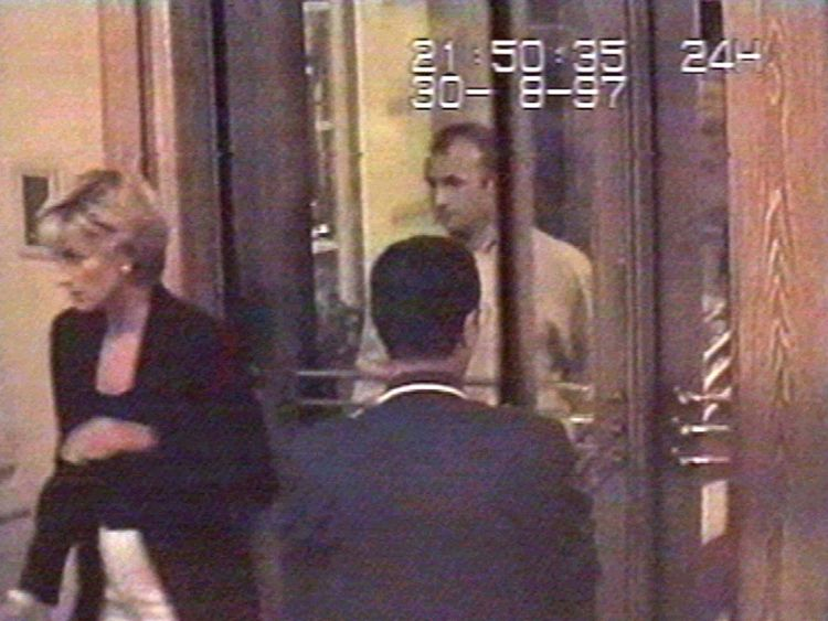 PRINCESS DIANA ENTERS THE RITZ HOTEL IN PARIS