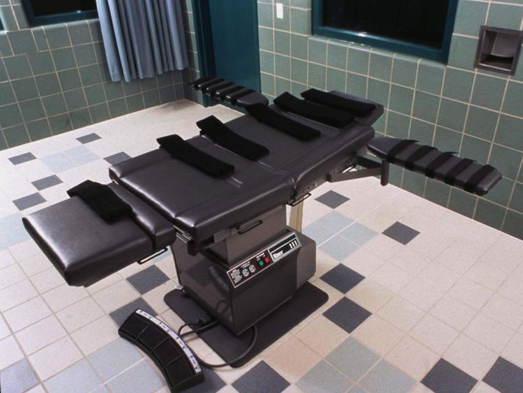 An execution chamber in Terre Haute, Indiana
