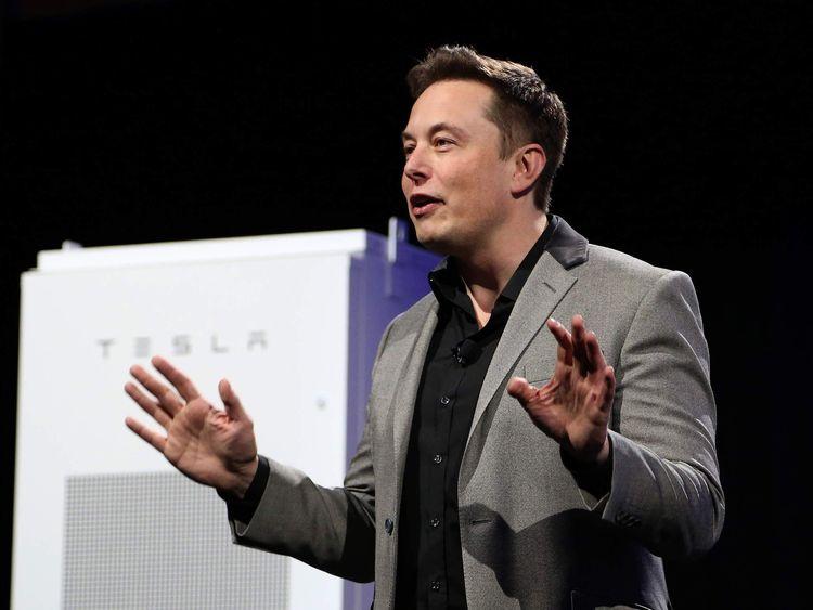 Tesla Boss Elon Musk Shows Off Powerwall