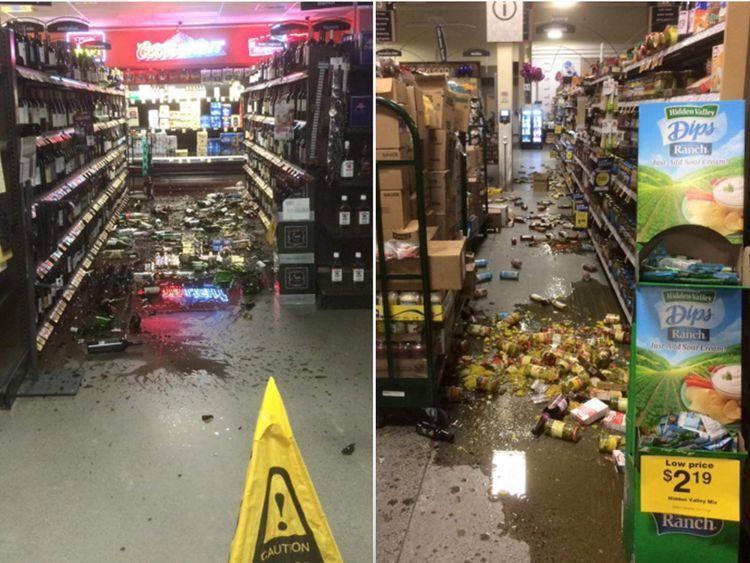 Safeway In Alaska after quake
